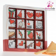 Mini Cookie box 16 biscuiti FUN LOVE MD23